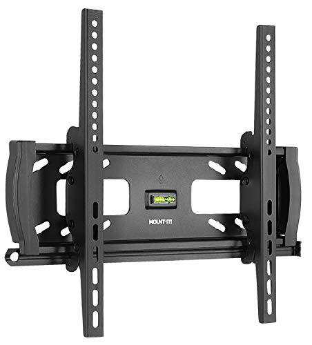 Mount-It! Lockable Anti Theft Tilt TV Wall Mount, Locking Bar Security Wall Mount fits 32