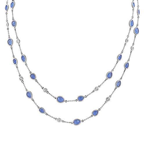 - Robert Manse Designs Gem RoManse Rhodium Plated Sterling Silver Gemstone 40
