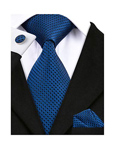 Barry.Wang Men Tie Set Solid Sil...