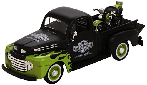 Maisto 1:24 Scale 1948 Ford F-1 Pickup and Harley Davidson 1948 FL Panhead Diecast Vehicles (Styles & Colors Vary) from Maisto
