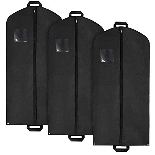 (Set of Extra Long Travel Garment Bags for Dresses, Long Coats, Suits by Pointed Designs (Set of 3 Garment Bags))