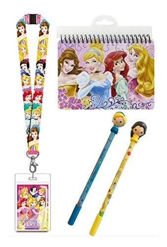 Disney Princess Autograph Book, Pens and Lanyard with ID Card Holder for Vacations ()
