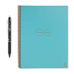 The Rocketbook everlasting uses patent-pending technology that gives users a classic pen and paper experience that's built for the digital age. Use the Rocketbook app to scan and blast your notes to the cloud. The everlast notebook can be use...