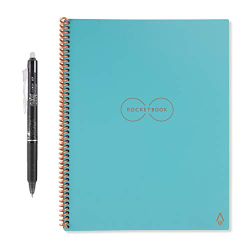 "Rocketbook Everlast Smart Reusable Notebook, Letter Size, Neptune Teal Cover, 8.5"" x 11"" (EVR-L-K-CCE)"