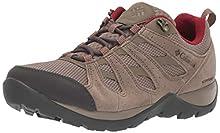 Columbia Redmond V2, Zapatos de Senderismo Impermeables para Mujer, Beige (Pebble, Beet 227), 39 EU