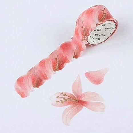 Pink Glitter Flowers Cloth Washi Craft Tape