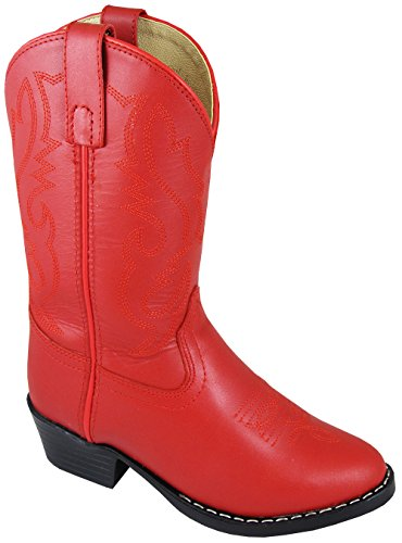 Smoky Mountain Girls' Denver Western Boot Round Toe Red 4 D(M) US Childrens Round Toe Boot