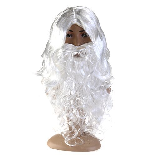 Santa Beard And Wig Set (FENICAL Santa Wig Beard Set Christmas Gift)