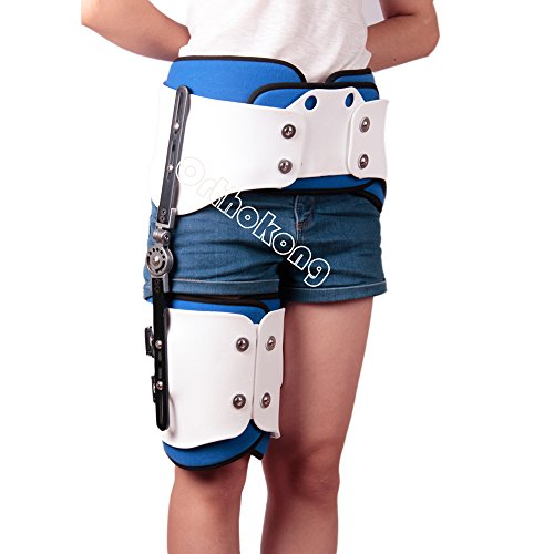 Hip Joint Dislocation Of Hip Abduction Orthosis Fixation Hinge Adjustable Waist Leg Brace Femur Injury FREE SHIPPING BY EMS 8-10 DAYS (Right) by Orthokong
