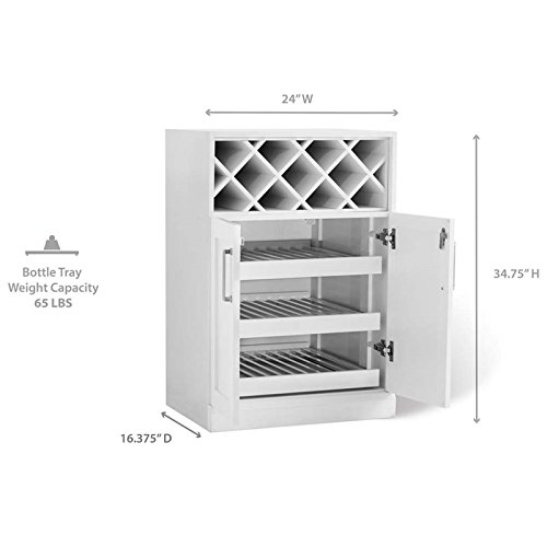 NewAge Home Bar 24'' x 16'' Wine Rack Cabinet in White