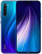 """Xiaomi Redmi Note 8 Teléfono 4GB RAM + 64GB ROM, Pantalla Completa de 6.3"""", Procesador Snapdragon 665 Octa-Core, 13MP Frontal y 48MP AI Cuatro Cámara Trasera Móviles Versión Global (Azul)"""