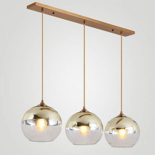 JINXUXIONGDI Simple Industrial Chandelier Crystal Glass Ceiling Chandelier, Creative Dining Room Corridor Living Room E27 LED Lighting Source, Ceiling Hanging Wrought Iron Lamps Without Light Source