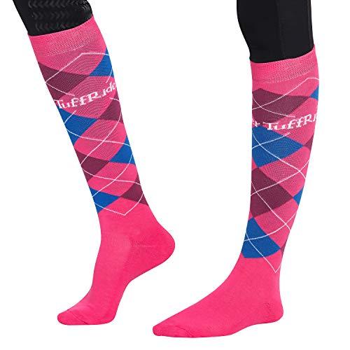TuffRider Jaipur Argyle Socks, Pink -