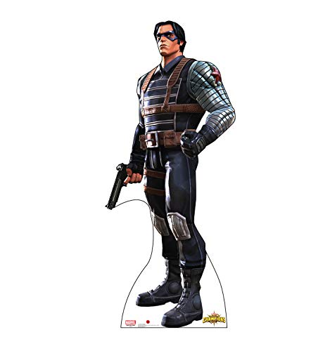 Soldier Cut Out - Advanced Graphics Winter Soldier Life Size Cardboard Cutout Standup - Marvel: Contest of Champions