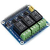 waveshare Raspberry Pi Expansion Board Power Relay Module for Raspberry Pi A+/B+/2B/3B/3B+ to Control High Voltage/high Current
