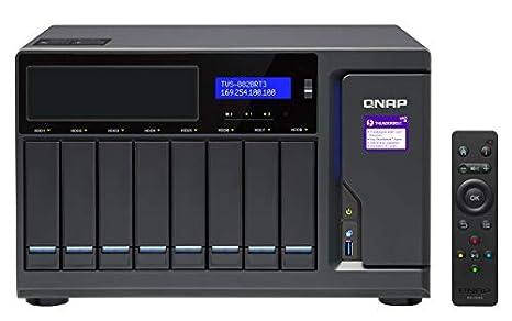 QNAP TVS-882BRT3 Ethernet Escritorio Negro NAS - Unidad Raid (80 ...