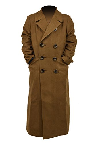 [Hello-cos Brown Jacket Long Trench Suede Coats Cosplay Costume for Children (Children-M)] (Cosplay Costume Brown Jacket Coat)