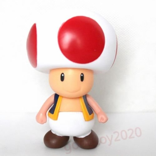"""Super Mario Brothers TOAD PVC 9cm/3.5"""" Action Figure Toy No Box"""