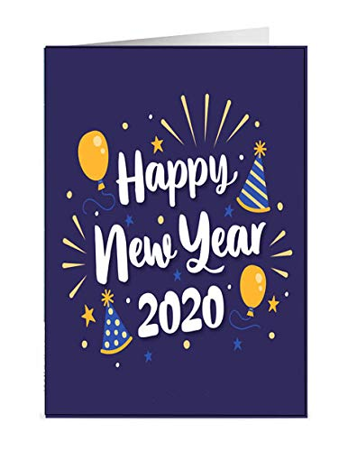 Nthosly Happy New Year Greeting Card 2020 Gift Card Happy Christmas Card Multicolour Card Festival Card Best New Gift For Girlfriend Wife Friend Amazon In Home Kitchen