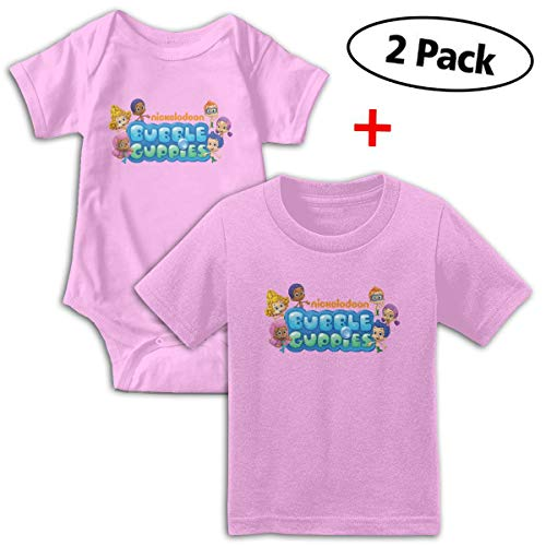 Bubble Guppies Babys Boy's & Girl's Short Sleeve Baby Climbing Clothes And Tee