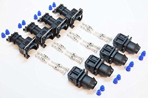 4 x homme JPT Junior puissance Chronomè tre 2 broches EV1 injecteur carburant PRISE CONNECTEUR KIT BOSCH Autodily