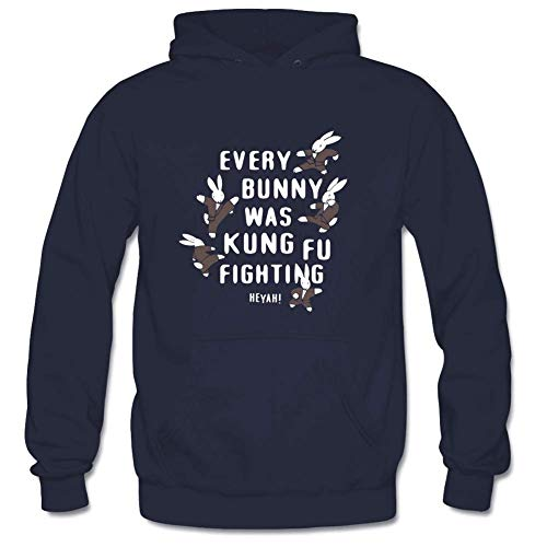 (Men's Every Bunny Was Kung Fu Fighting Classic Long Sleeve Hoodie XL)