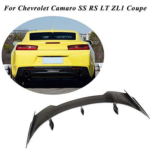 JC SPORTLINE fits Chevrolet Camaro SS RS LT ZL1 Coupe 2016-2019 Carbon Fiber Rear Highkick Trunk Spoiler CF Boot Lip