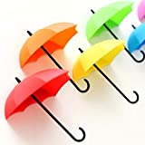 Finance Plan Hot New 3Pcs Cute Colorful Umbrella Wall Hook Hair Pin Key Holder Organizer Decor Gifts