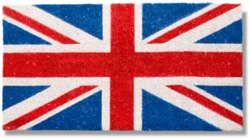 Abbott Coir Fibre Doormat, Union Jack Flag, Natural Material