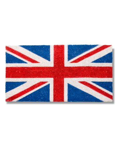 Abbott Coir Fibre Doormat, Union Jack Flag, Natural Material (Union Flag)