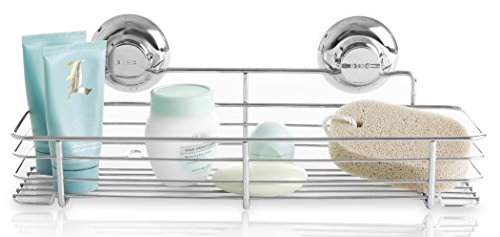 bino-smartsuction-rust-proof-stainless-steel-shower-caddy-shelf