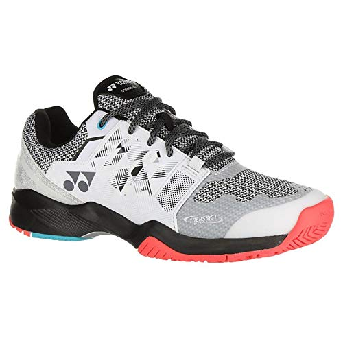 Yonex Power Cushion Sonicage Wide Mens Tennis Shoe - White/Black - Size 9.5