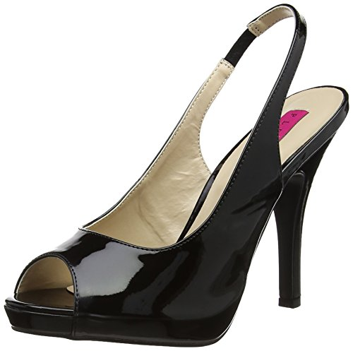 Pleaser Pink Label Eve-04 - Plataforma Mujer Black (Blk Pat)