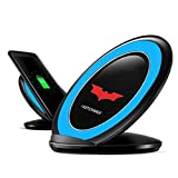 Fast Charge Wireless Charger, FUA® Fast Charge Qi Wireless Charging Stand Dock for Samsung Galaxy S7/S7 edge (Blue)