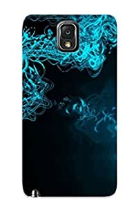 Ellent Galaxy Note 3 Case Tpu Cover Back Skin Protector Blue Neon Waves For Lovers' Gifts