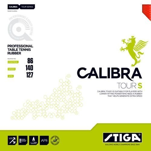 Stiga Rubber Calibra Tour S, options 2.1 mm, red