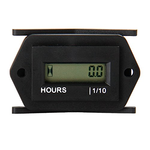 Runleader RL-HM008A AC86 to 230V hour meter with digital LCD display for Boat Tractor Generator Engine Mower Fork Light CAT Paramotors Microlights Marine Engines Cleaners and Chainsaws