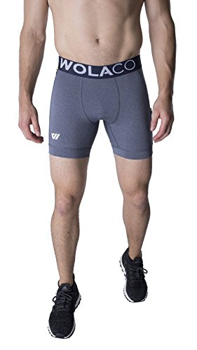 North Moore Compression Shorts - 6'' Inseam - Compact Sports Activewear - Made in America (L, Empire Blue) by WOLACO