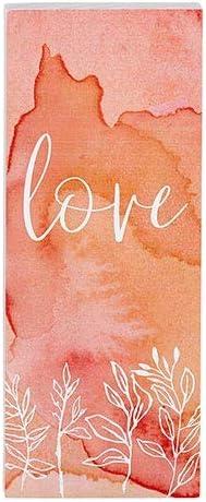 heartfelt Tabletop Decor - Vertical Block - Inspirational - Love (Pack of 2)