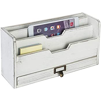 Wall Mail Organizer Wood Kitchen Decor Bills Letters Misc with  Desktop Mail Organizer For Kitchen