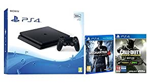 PlayStation 4 Slim (PS4) 500 GB - Consola + Call Of Duty: Infinite Warfare + Uncharted 4