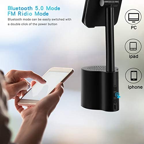 2 in 1 Bluetooth Speaker Phone Holder, Portable Wireless Speaker with Enhanced Bass and Stereo Sound, Adjustable Phone Stand, Compatible with All Mobile Phones, Suitable for Outdoor and Indoor 419S8NG7zaL