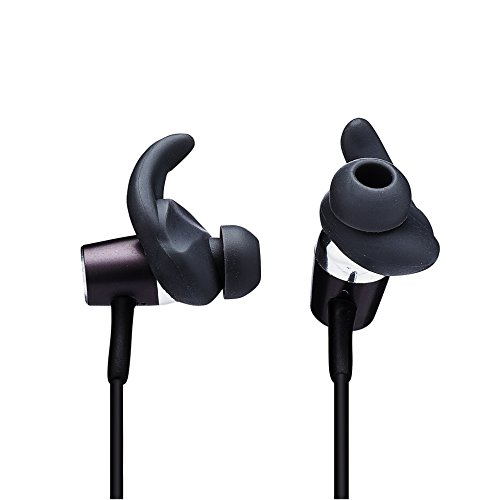 "Cheap J&L Brands Y722 Bluetooth Headphones ""All in One"" Wireless Noise Cancelling Sweatproof Headset for Sports with Caller Phone Number Announcement and Built in Bluetooth Camera Remote-Black"