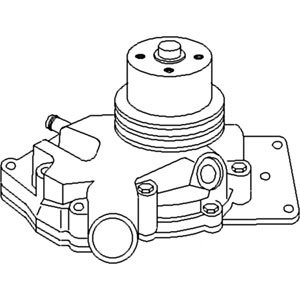 John Deere Pump Assembly Water Part No: A-AR77142 by AI Products