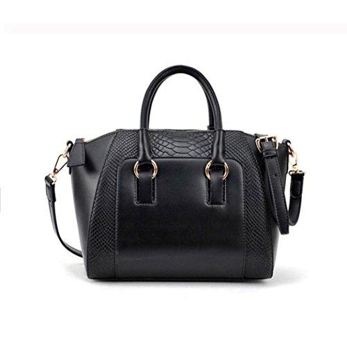 gotd-women-crocodile-retro-zipper-handbag-faux-leather-satchel-tote-inner-pocket-black
