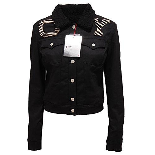 Woman Giacca Jacket Donna 8852q Nero Cycle Giubbotto Sqpn4wU