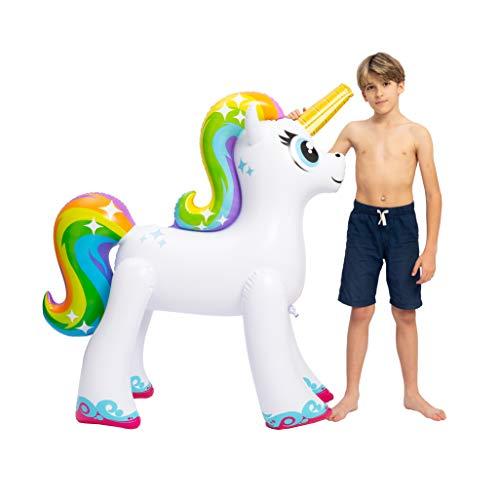 JOYIN Inflatable Unicorn Yard Sprinkler, Lawn Sprinkler for Kids, 55'' Tall by JOYIN (Image #2)