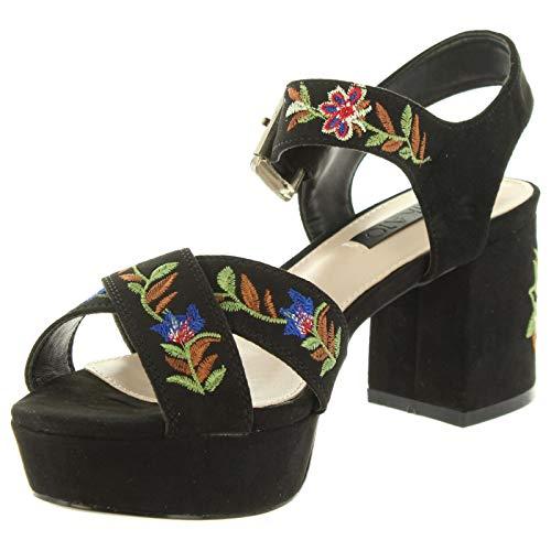 New Cloe Chika10 da donna Negro 03 Sandali RvBfxqdB