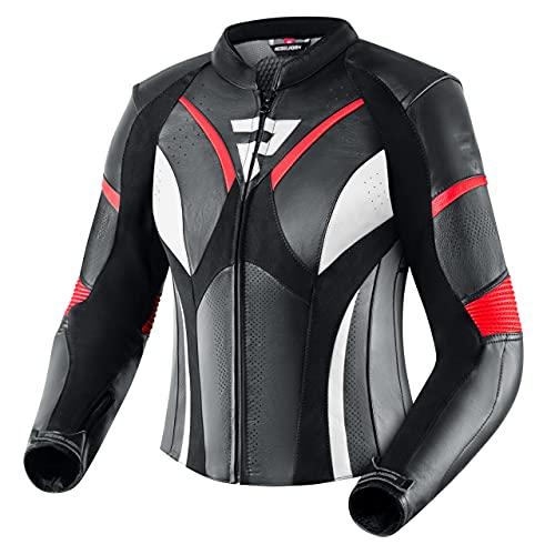 REBELHORN Rebel Lady Motorradjacke für Frauen Rindsleder Ellbogen Schultern und Rückenprotektor Belüftung 4 Taschen…