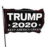 ZMEE Trump 2020 Flag Decoration, Carnival, Parade, Rainbow Party, Poliester Banner with Brass Eyelet3x5